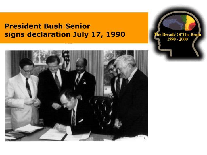 President Bush Senior