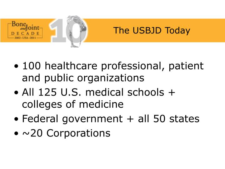 The USBJD Today