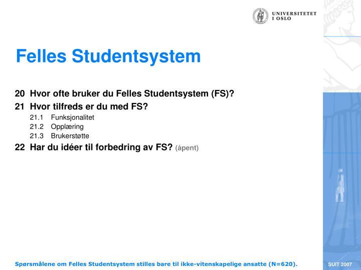 Felles Studentsystem