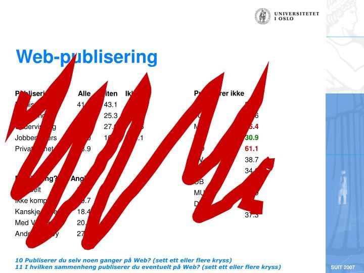 Web-publisering