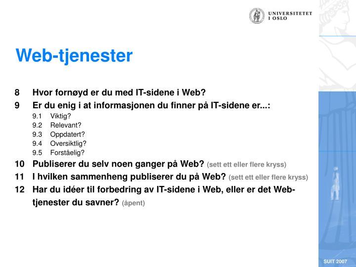 Web-tjenester