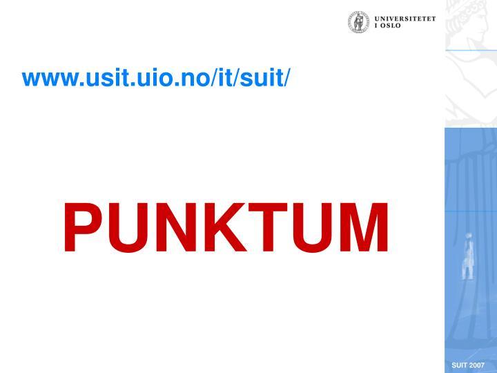 www.usit.uio.no/it/suit/