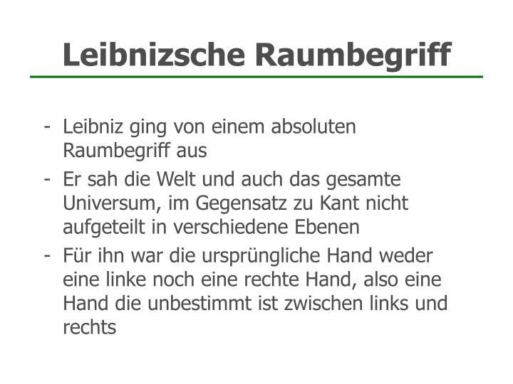 Leibnizsche Raumbegriff