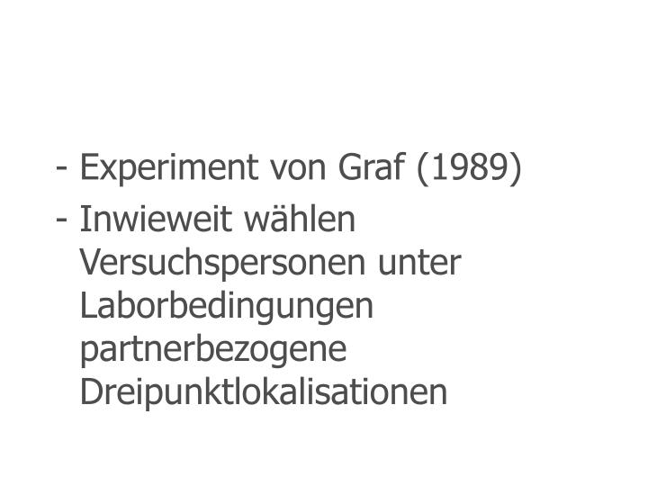 Experiment von Graf (1989)