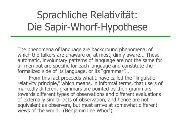 Sprachliche Relativität: