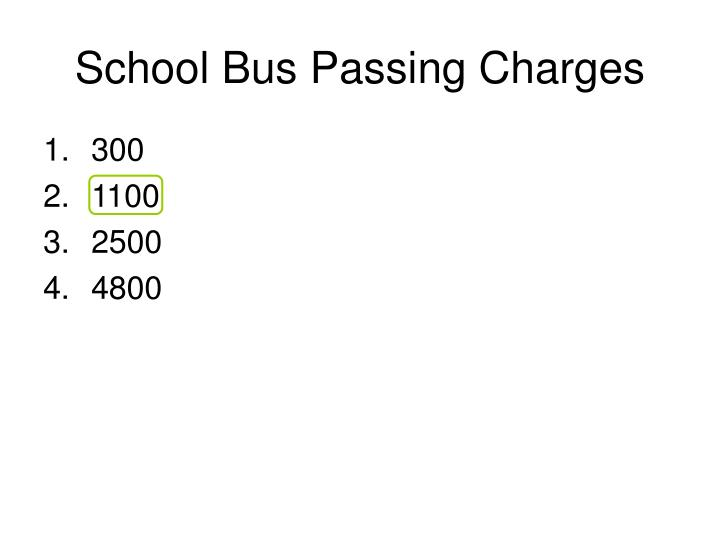 School Bus Passing Charges