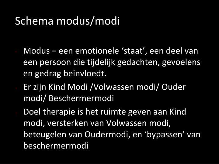 Schema modus/modi