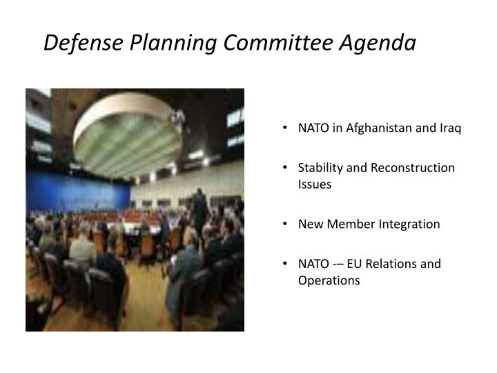 Defense Planning Committee Agenda