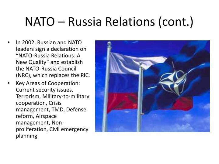 NATO – Russia Relations (cont.)