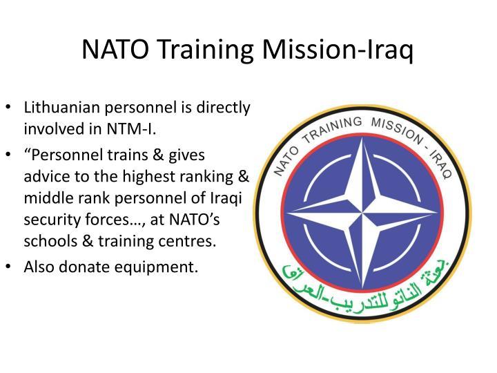 NATO Training Mission-Iraq