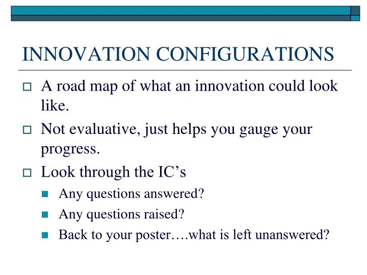INNOVATION CONFIGURATIONS