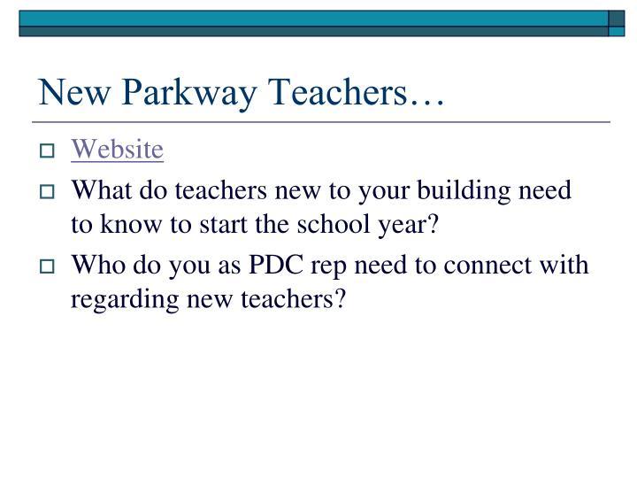 New Parkway Teachers…