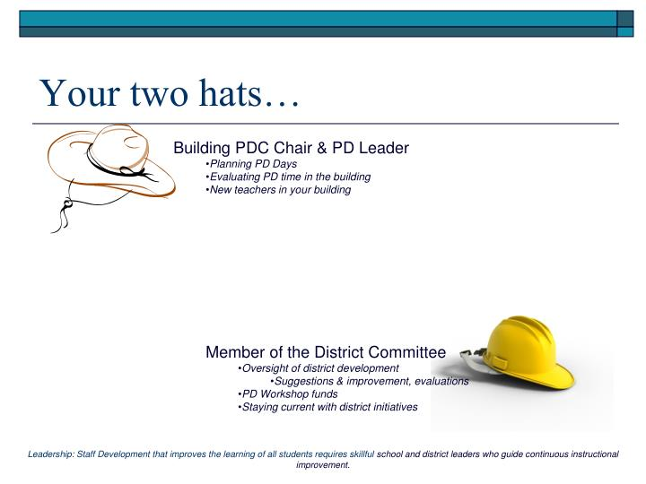 Your two hats…