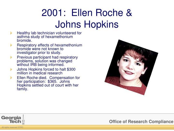 2001:  Ellen Roche &