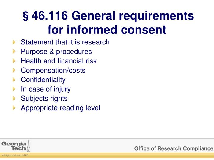 §46.116 General requirements for informed consent
