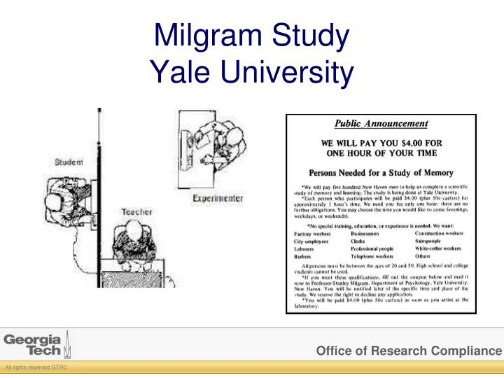 Milgram Study