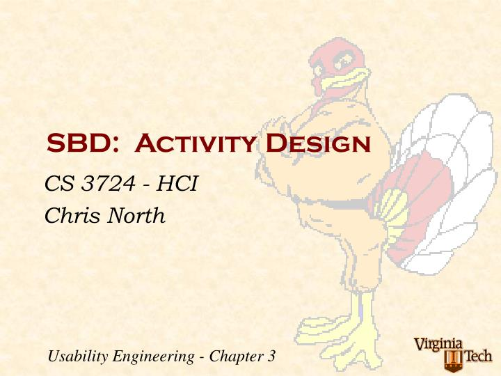 Sbd activity design