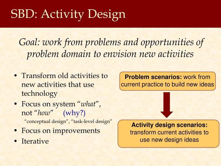 SBD: Activity Design