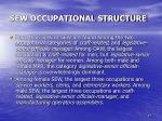 sew occupational structure