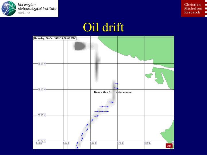 Oil drift