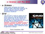 e science and the grid