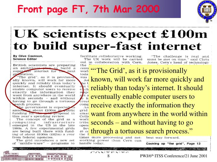 Front page FT, 7th Mar 2000
