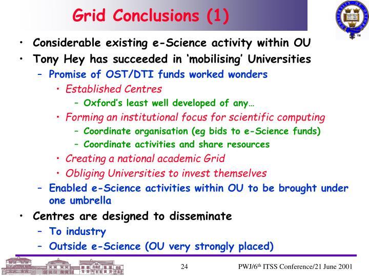 Grid Conclusions (1)