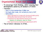 organisational break out groups