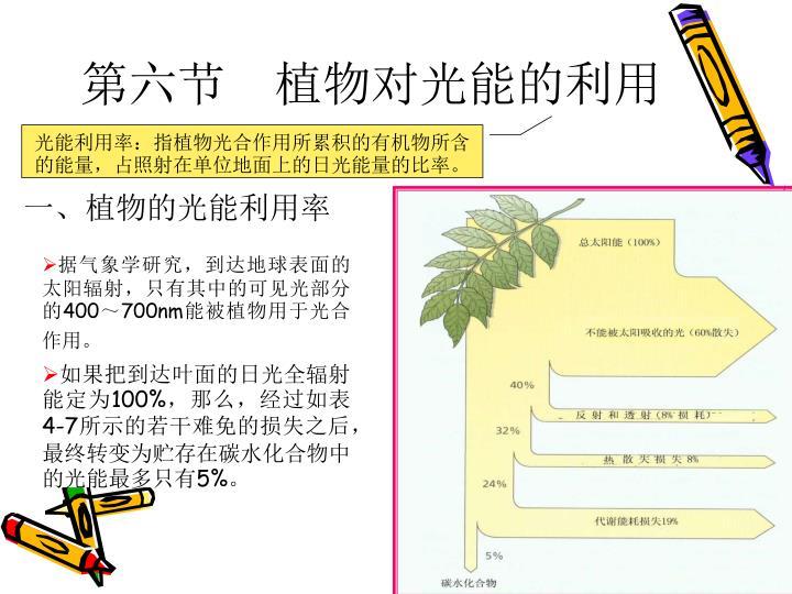 第六节 植物对光能的利用