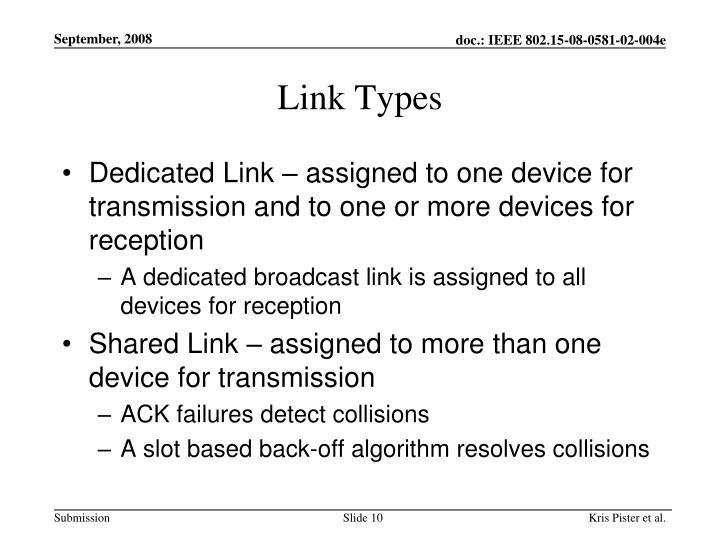 Link Types