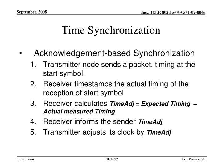 Time Synchronization