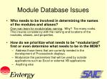 module database issues