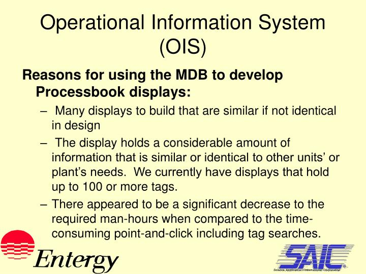 Operational Information System (OIS)