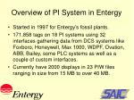 overview of pi system in entergy