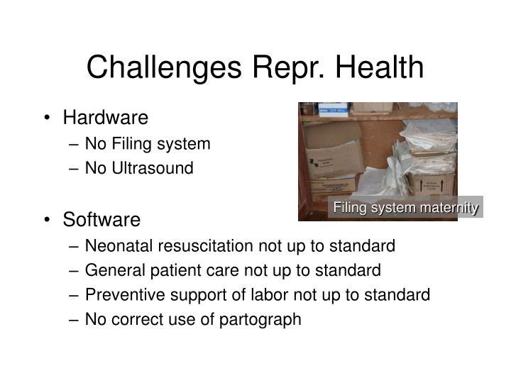 Challenges Repr. Health
