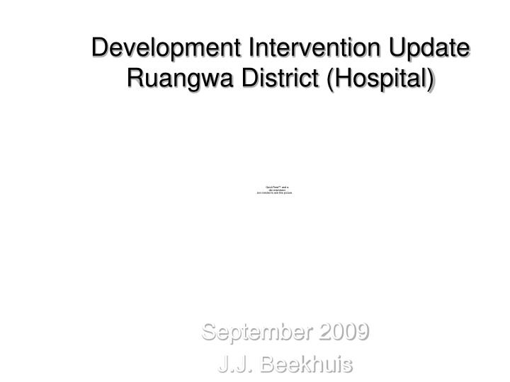 development intervention update ruangwa district hospital