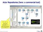 actor repositories here a commercial tool