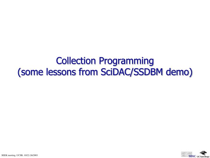 Collection Programming