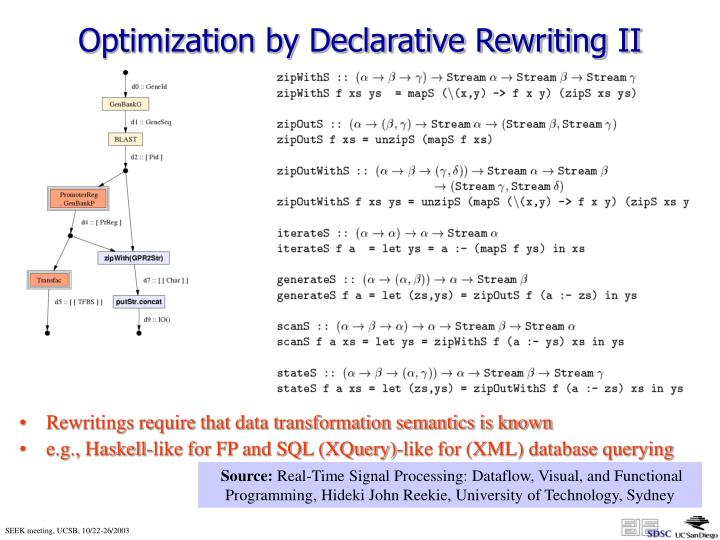 Rewritings require that data transformation semantics is known