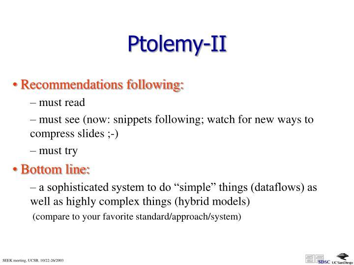 Ptolemy-II