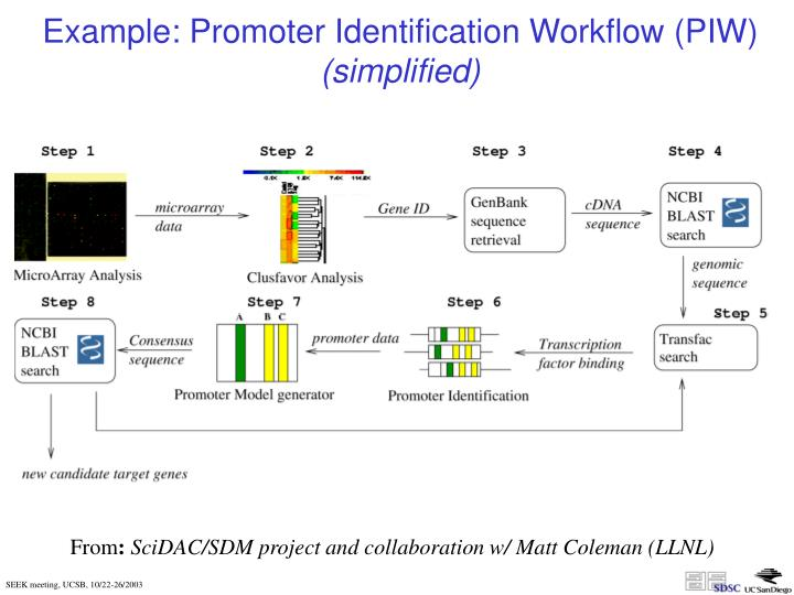 Example: Promoter Identification Workflow (PIW)