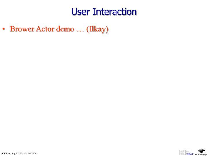 User Interaction