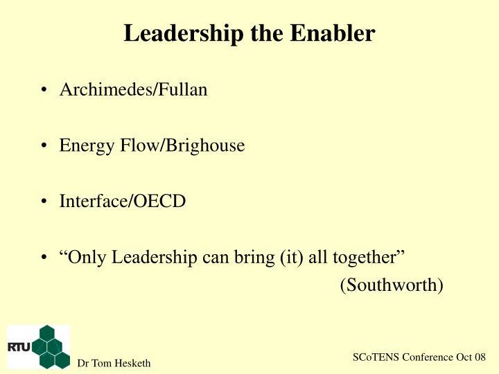 Leadership the Enabler