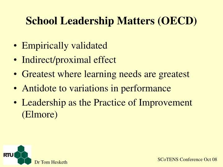 School Leadership Matters (OECD)