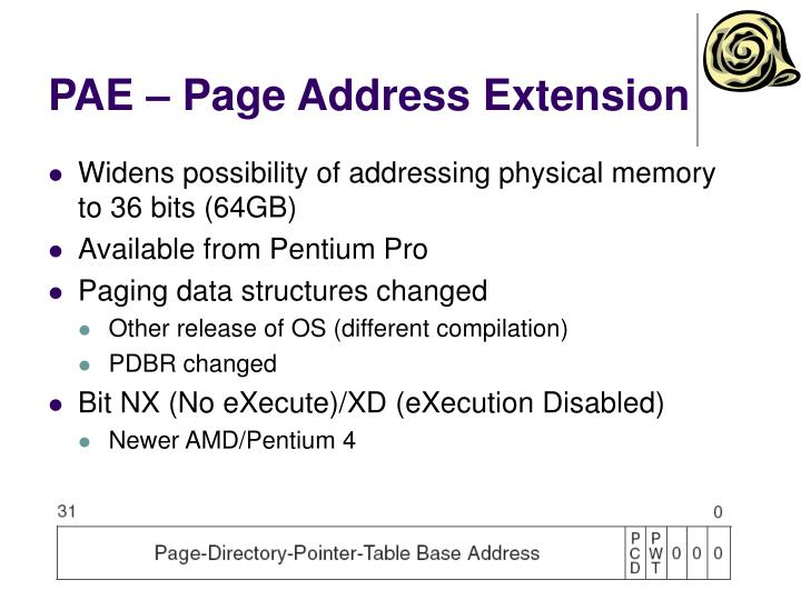PAE – Page Address Extension