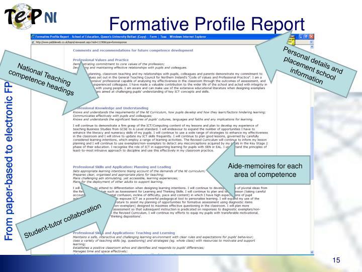 Formative Profile Report