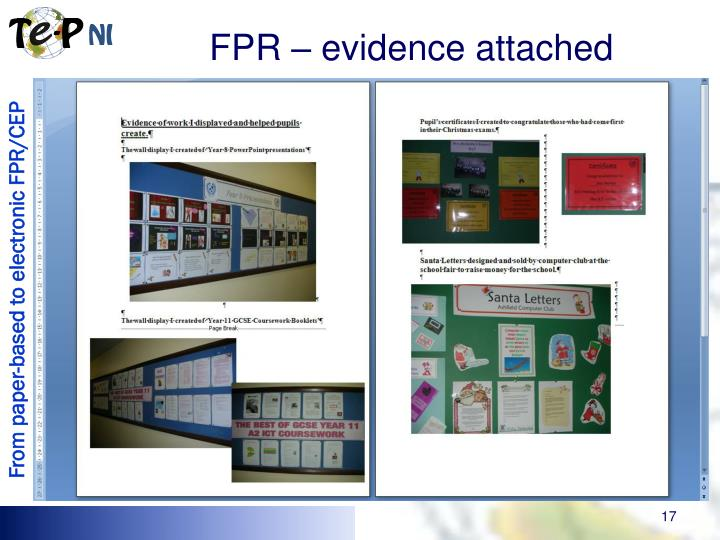 FPR – evidence attached