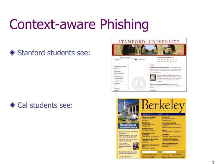 Context-aware Phishing