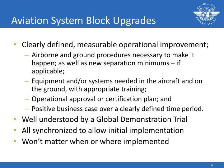 Aviation System Block Upgrades