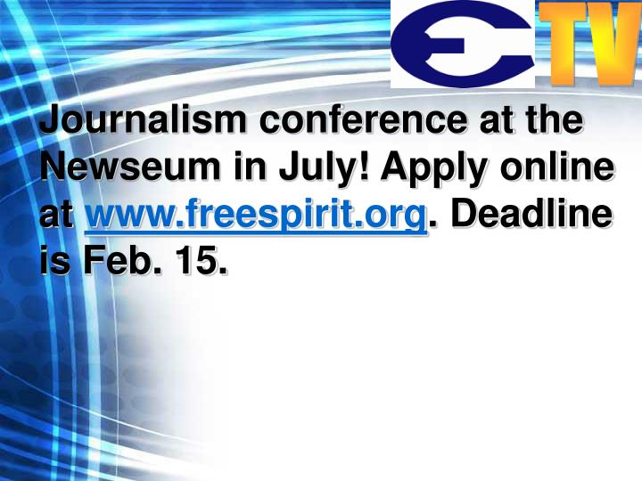 Journalism conference at the Newseum in July! Apply online at